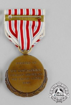Department of the Army Outstanding Civilian Service Award Reverse