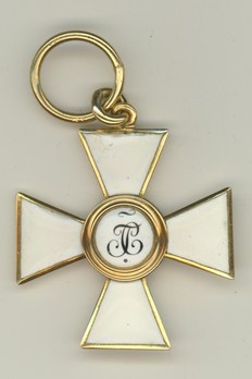 Order of Saint George IV Class Badge (in gold) Reverse