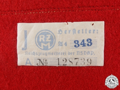 NSDAP Leiter einer Hauptstelle Type II Reich Level Armband RZM Tag