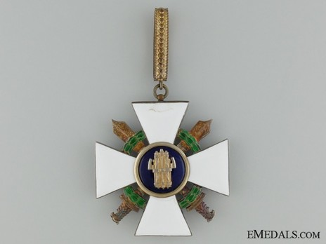 Order of the Roman Eagle, Grand Officer's Cross (with wreath and swords) Reverse