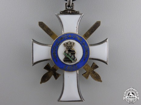 Type II, Military Division, II Class Knight (with swords, in silver gilt)