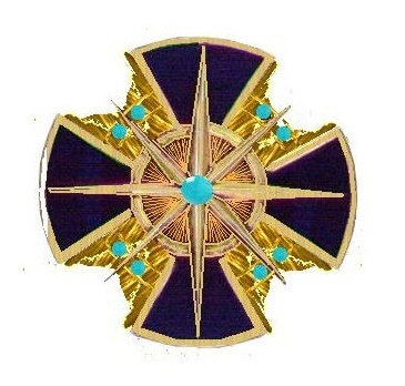 I Class Grand Commander Breast Star with Turquoise Obverse