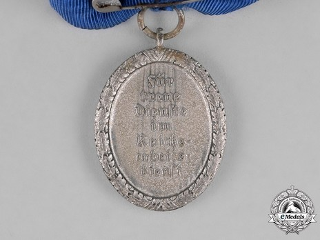 RAD Long Service Award, II Class for 18 Years (for Women) Reverse