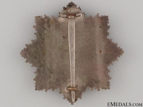 """German Cross, in Gold, by C. E. Juncker (Model 2, """"2"""", tombac) Reverse"""
