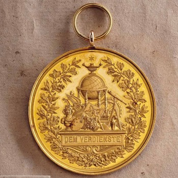 """Medal for the Arts and Sciences, Type IV, in Large Gold (in gold, stamped """"K.SCHWENZER"""")"""