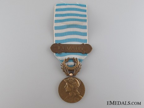 """Bronze Medal (with """"LEVANT"""" clasp, stamped """"GEORGES LEMAIRE"""") Obverse"""