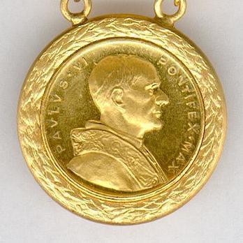 Bene Merenti Medal, Type X, Gold Medal Obverse