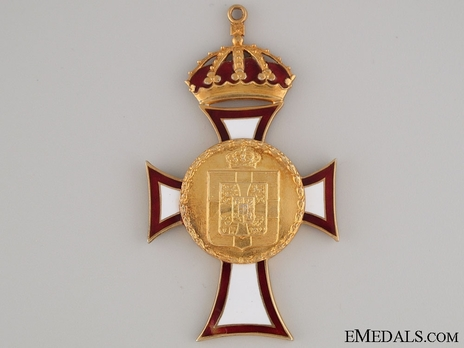 Royal Order of St. George and St. Constantine, Grand Cross (Civil Division) Reverse