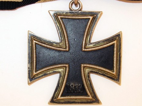 Knight's Cross of the Iron Cross, by C. E. Juncker (unmarked, non-magnetic) Reverse