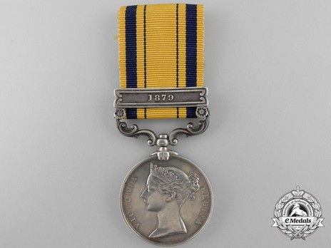 "Silver Medal (with ""1879"" clasp) Obverse"
