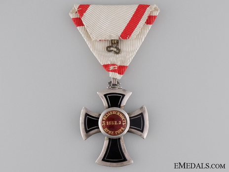 Order of Danilo I (Merit for the Independence), Type IV, V Class Reverse