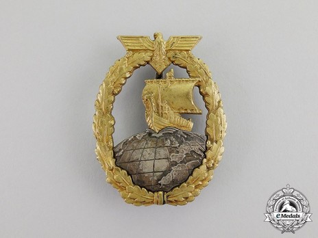 Naval Auxiliary Cruiser War Badge, by C. E. Juncker Obverse