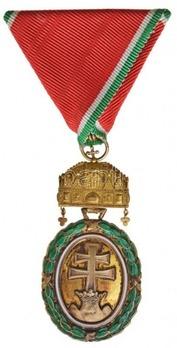 Hungarian Signum Laudis Medal, Large Gold Medal, Civil Division Obverse
