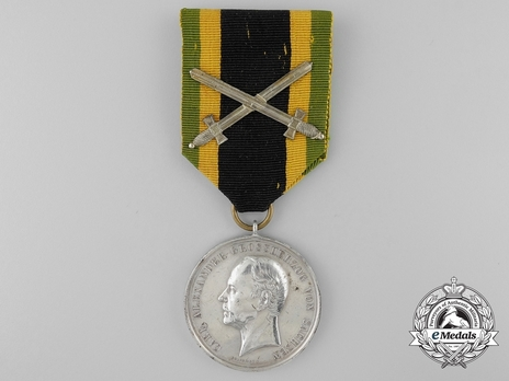 "Military Division, Silver Medal  (for Merit with swords clasp & stamped ""A.KRUGER F."")"