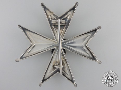 I Class Commander Breast Star (with silver by C. F. Carlman) Reverse