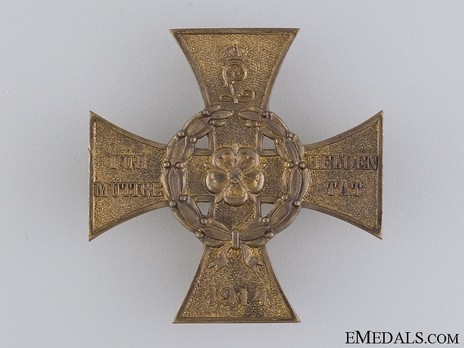 War Honour Cross for Heroic Deeds (with pin back) Obverse