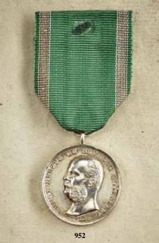 """Medal for Art and Science, Type II, in Silver (stamped """"HELFRICHT F."""")"""