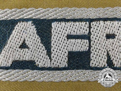 German Army Afrika Cuff Title (1st version) Obverse Detail 2