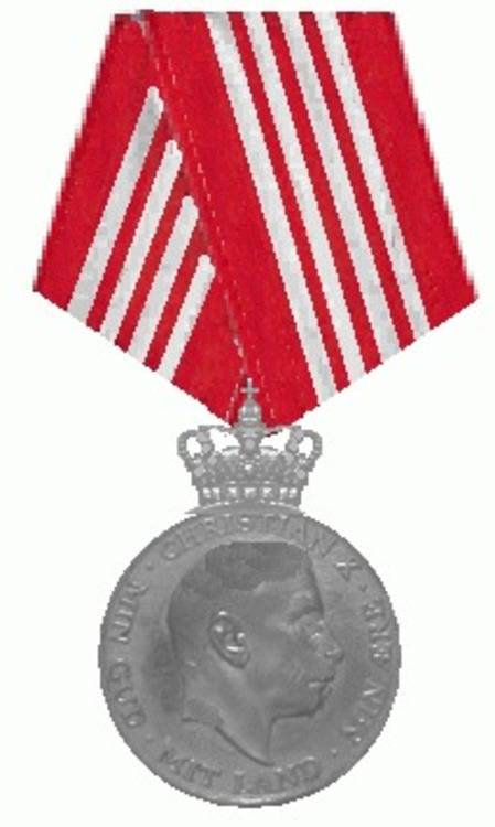 King christian x%27s medal for participation in the war