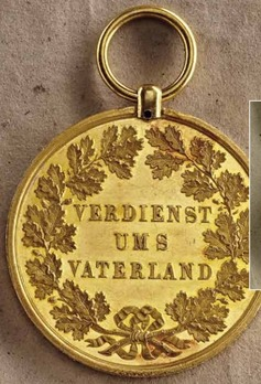Gold Civil Merit Medal, Type III