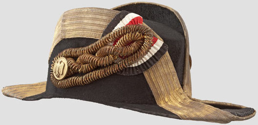 Kriegsmarine Admiral & Commodore Ranks Naval Fore-and-Aft Hat Profile