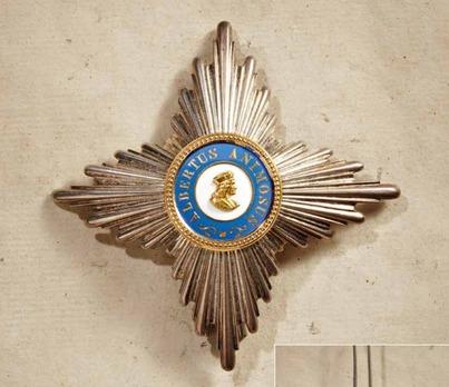 Albert Order, Type II, Civil Division, I Class Commander Breast Star (in gold)