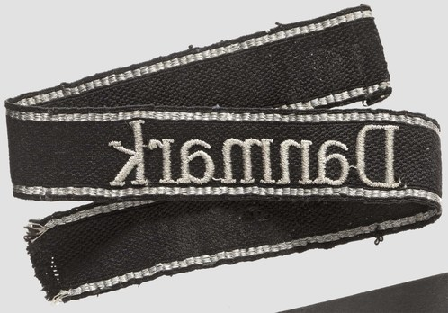 Waffen-SS Danmark Cuff Title (RZM machine-embroidered version) Reverse