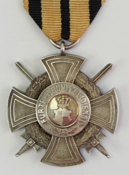 House Order of Hohenzollern, Type II, Military Division, Silver Merit Cross (with swords, 1941-)