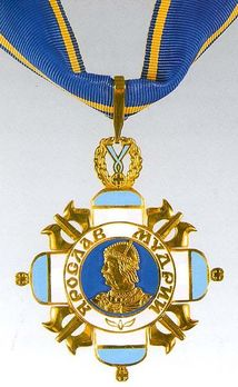 Order of the Prince Yaroslav the Wise, III Class Badge Obverse