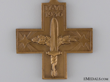 Commemorative Cross for the Spanish Campaign Obverse