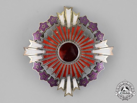 Order of the Paulownia Flowers, Star Obverse