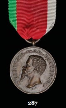 """Medal for the Liberation of Sicily, in Bronze (stamped """"BARONE F."""")"""