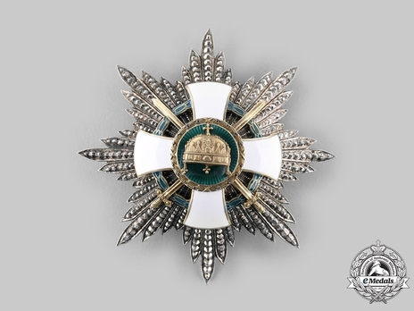 Order of the Holy Crown , Grand Cross Breast Star, Military Division (with War Decoration)