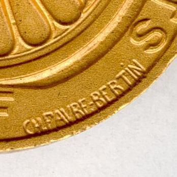 """Gilt Medal (stamped """"CH. FAVRE-BERTIN,"""" 1939-1953) (Bronze gilt by Monnaie de Paris) Obverse"""