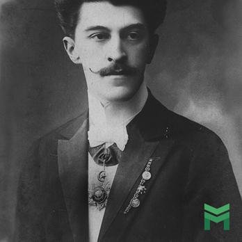 Johann Strauss II wearing an Order of Medjidjie
