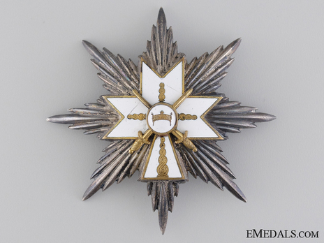 I Class Grand Officer Breast Star (with swords) Obverse