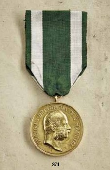 """Medal for Art and Science """"VIRTUTI ET INGENIO"""", Type VIII, in Small Gold (stamped """"M. BARDULECK"""")"""