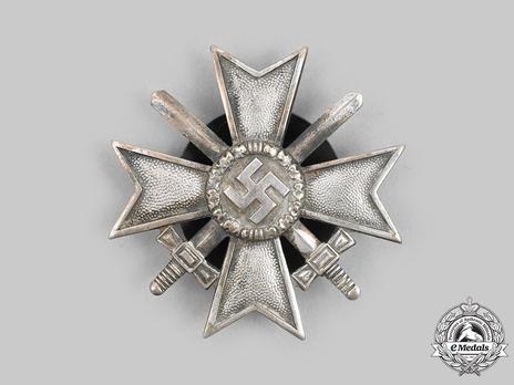 War Merit Cross I Class with Swords, by R. Souval (L/58, screwback, zinc)
