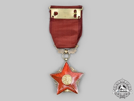 Order of the Red Banner, Gold Star (1960-1989) Reverse