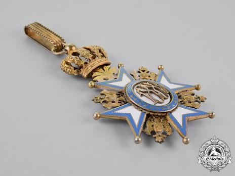 Order of Saint Sava, Type II, II Class Reverse