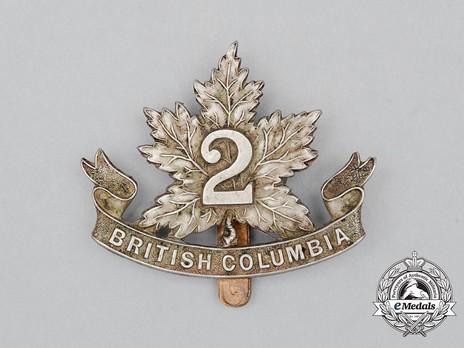 30th Infantry Battalion Other Ranks Cap Badge (Pointed Leaf) Obverse