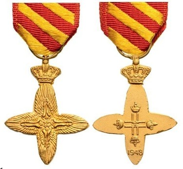 Miniature Gold Cross Obverse and Reverse