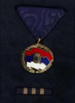Order of the Serbian Flag, III Class Obverse