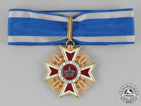 Order of the Romanian Crown, Type I, Civil Division, Grand Officer's Cross Obverse