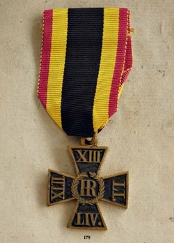 Honour Cross for the 1814-1815 Campaigns (in blackened iron)