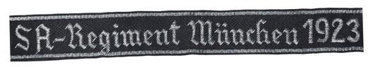 SA-Regiment München 1923 Cuff Title Obverse