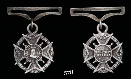 Silver Cross (for inferiors civilians) Obverse and Reverse