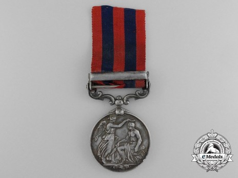 """Silver Medal (with """"WAZIRISTAN 1894-5"""" clasp) Reverse"""