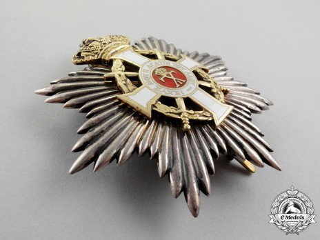 Royal Order of George I, Military Division, Grand Cross Breast Star Obverse