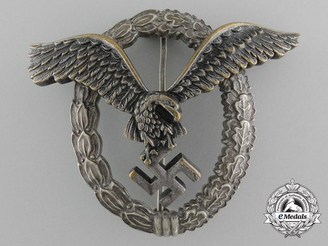 Pilot Badge, by Berg & Nolte (in tombac) Obverse